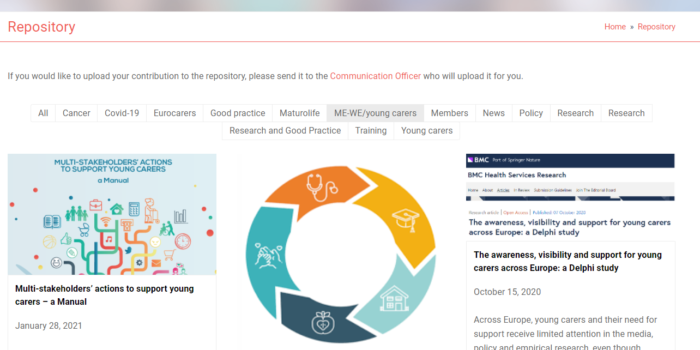 An Online Repository Of Evidence On Multidisciplinary Approaches To Support AYCs In Europe