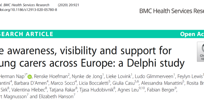 The Awareness, Visibility And Support For Young Carers Across Europe: A Delphi Study