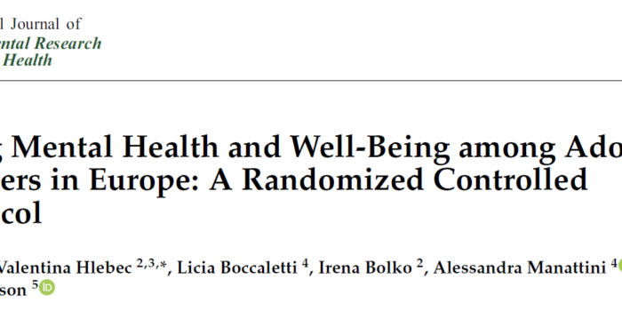 Promoting Mental Health AndWell-Being Among Adolescent Young Carers In Europe: A Randomized Controlled Trial Protocol