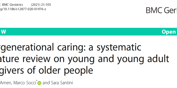 Intergenerational Caring: A Systematic Literature Review On Young And Young Adult Caregivers Of Older People